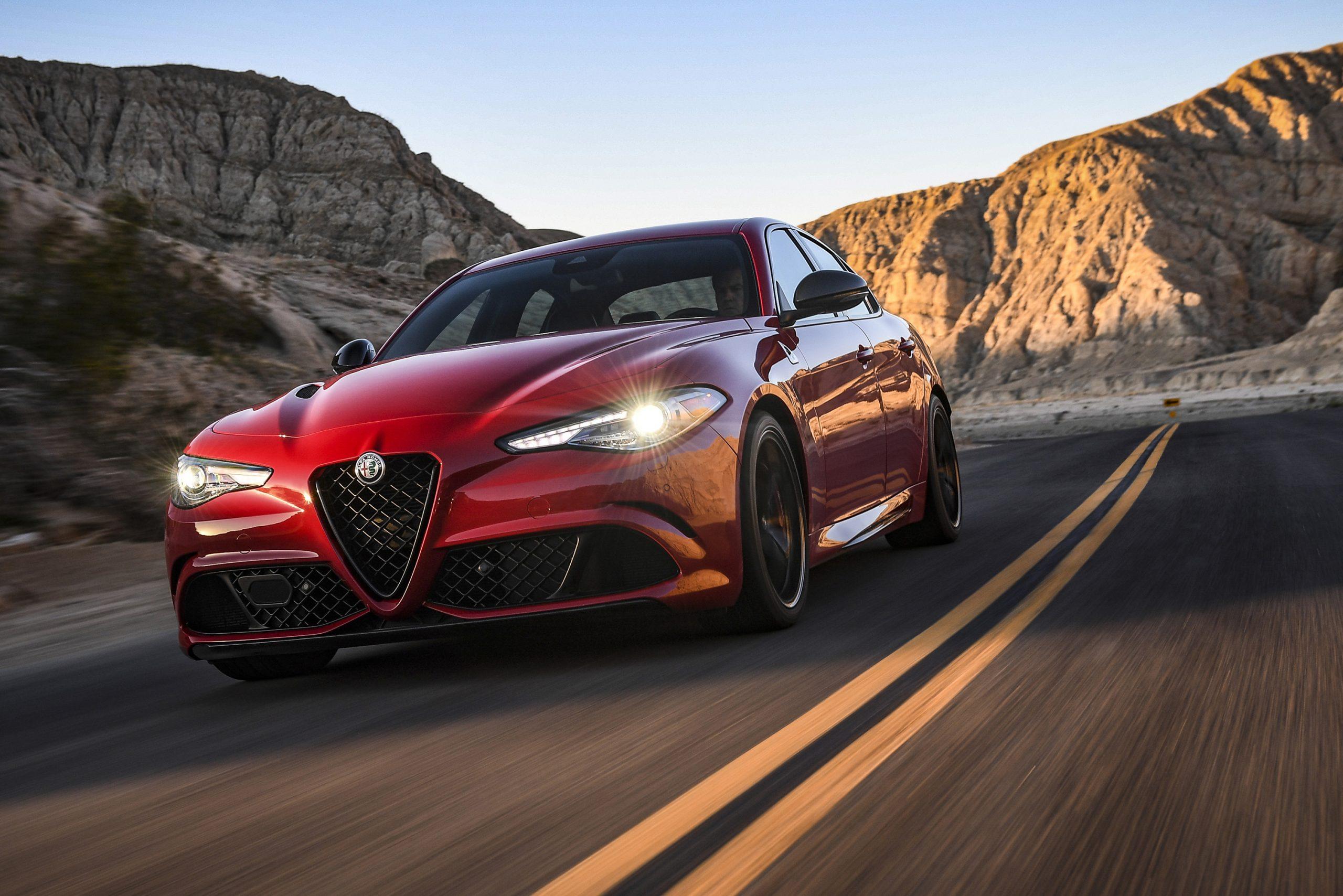 Fastest Four-Door Cars - 2021 Alfa Romeo Giulia Quadrifoglio